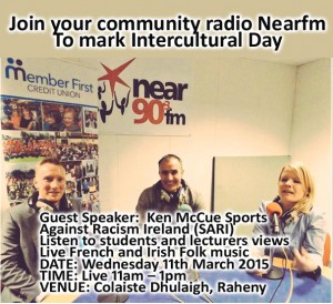 Nearfm joins Colaiste Dhulaigh, Raheny to mark Intercultural Day