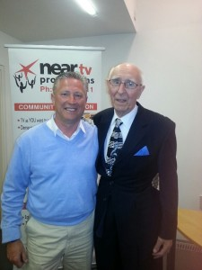 "Vincent Flood with Gerry Cooley at the Book Launch of ""The Ambidextrous Hound"""