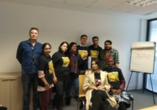 The Migrant Voices production team and trainers