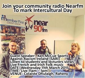 Nearfm joins Colaiste Dhulaigh, Raheny to mark Intercultural Day