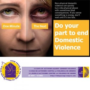 16 Days of Action Campaign – Against Domestic Violence