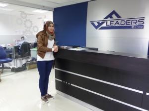 Mays Attari at the Fastforward offices, Ramallah
