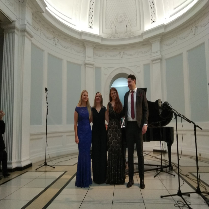 Dublin Song Series (L-R) Clodagh Kinsella, Dearbhla Collins, Leah Redmond and  Rob McAllister